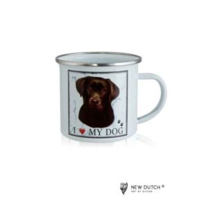1044 - Metal Mug - Chocolate Labrador