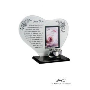 300661 - Waxinehouder In Memoriam Hart - Lieve Opa