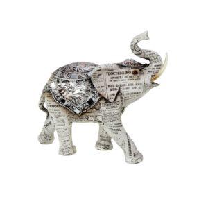 400521 - Old Paper Elephant - 19.5x8.5x18.5 cm