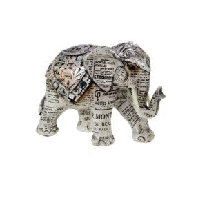 400522 - Old Paper Elephant - 15x6.5x11cm