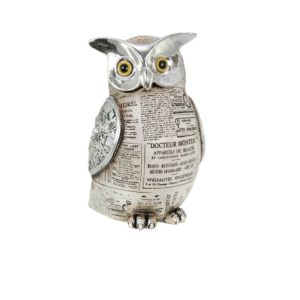400523 - Old Paper Owl - 14x14x24.5cm