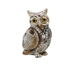 400526 - Old Paper Owl - 7.5x7.5x14cm