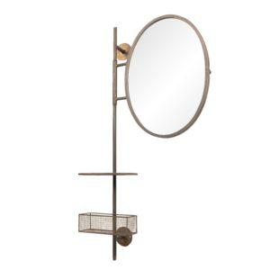 52S171 Spiegel schap en mand - 55*20*105 cm