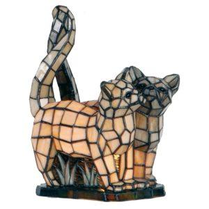 5LL-1187 - Tafellamp Tiffany Kat - 27*18*35 cm