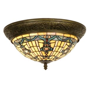 5LL-5351 - Plafondlamp Tiffany - Ø 38*19 cm
