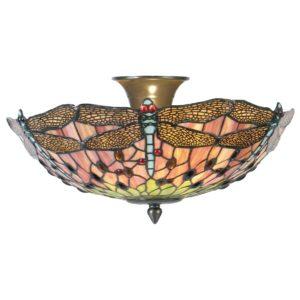 5LL-5415 - Plafondlamp Tiffany - Ø 40*23 cm