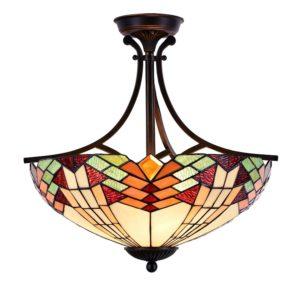 5LL-5963 - Plafondlamp Tiffany - Ø 51*50 cm