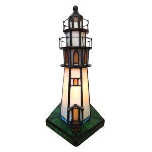 5LL-6006 - Lamp Tiffany Vuurtoren - 11*11*25 cm