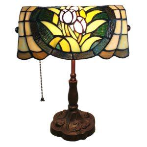 5LL-6013 - Bureaulamp Tiffany - 25*25*42