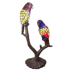 5LL-6017 - Tafellamp Tiffany Papegaai - 50*24*63 cm