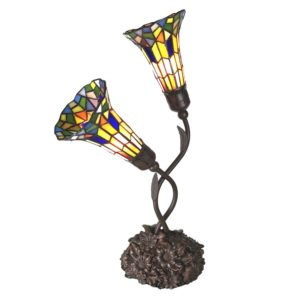 5LL-6028 - Tafellamp Tiffany - 46*28*63 cm