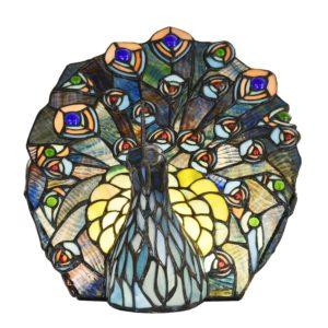 5LL-6044 - Tafellamp Tiffany Pauw - 32*30 cm