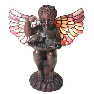 5LL-6049 - Tafellamp Tiffany Engel - 33*21*33 cm