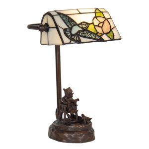 5LL-6050 - Bureaulamp Tiffany - 17*15*28 cm