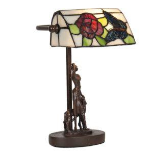 5LL-6051 - Bureaulamp Tiffany - 17*15*28 cm