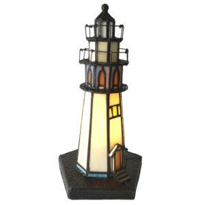 5LL-6053 - Tafellamp Tiffany Vuurtoren - Ø 12*28 cm