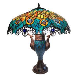 5LL-6067 - Tafellamp Tiffany Pauw - Ø 56*68 cm