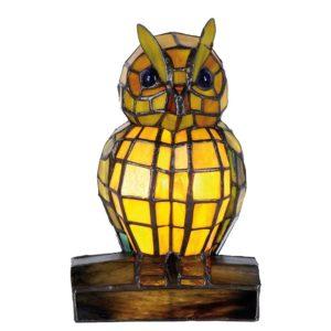 5LL-9328 - Tafellamp Tiffany Uil - 15*12*22 cm