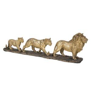 5PR0058 - Decoratie leeuwenfamilie - 64*10*18 cm