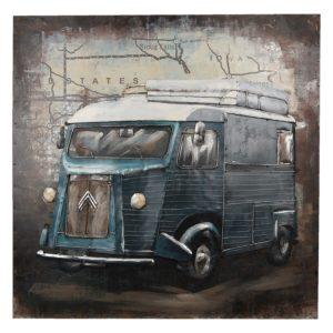 5WA0112 - Wanddecoratie bus - 80*80*5 cm