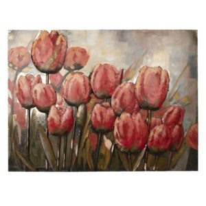 5WA0118 - Wanddecoratie tulpen - 100**5*75 cm