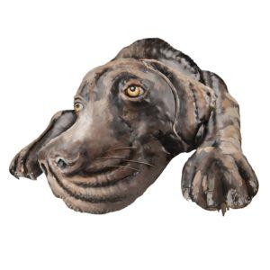 5WA0119 - Wanddecoratie hond - 70*52*5 cm