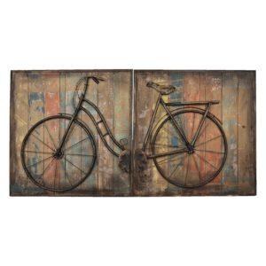 5WA0123 - Wanddecoratie fiets - 120*60*6 cm