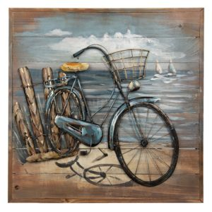 5WA0135 - Wanddecoratie fiets - 60*60*5 cm