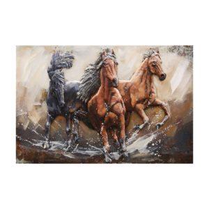 5WA0144 - Wanddecoratie paarden - 120*80*5 cm