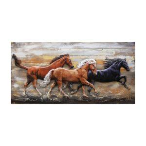 5WA0145 - Wanddecoratie paarden - 140*70*8 cm