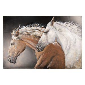 5WA0147 - Wanddecoratie paarden - 120*6*80 cm