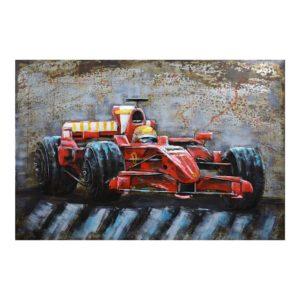 5WA0170 Wanddecoratie F1 raceauto - 120*6*80 cm