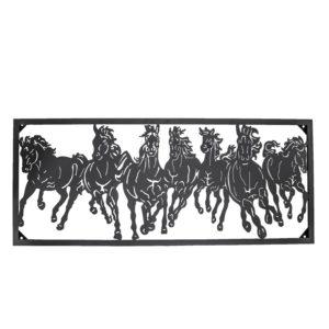 5Y0496 - Wanddecoratie paarden - 116*3*47 cm