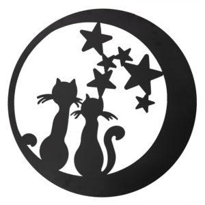 5Y0497 - Wanddecoratie katten - Ø 60 cm