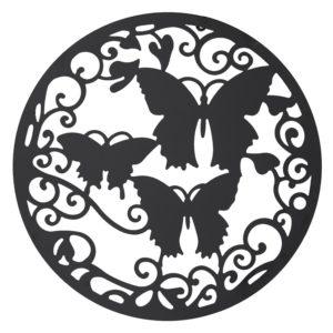 5Y0498 - Wanddecoratie vlinders - Ø 60 cm