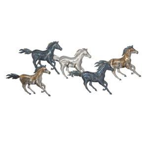 5Y0534 - Wanddecoratie paarden - 119*49*6 cm