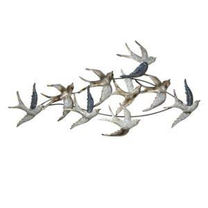 5Y0535 - Wanddecoratie vogels - 116*62*6 cm