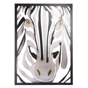 5Y0687 - Wanddecoratie Zebra - 55*3*76 cm