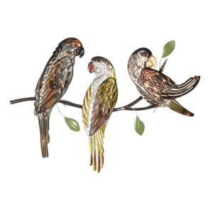5Y3463 - Wanddecoratie papegaai - 65*4*47 cm