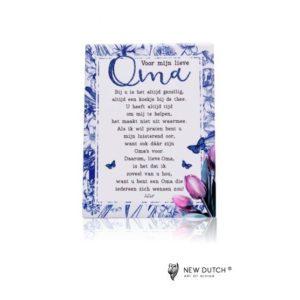 526 - Gedichtentegel - Mijn lieve Oma