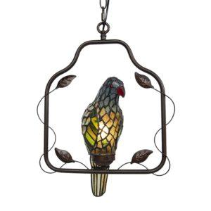 5LL-6059 - Plafondlamp Tiffany Papegaai - 40*26*86 cm