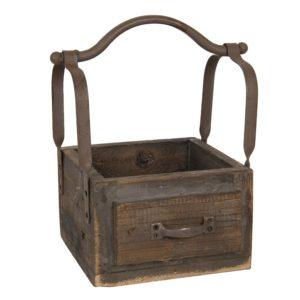 6H1915 - Kist van hout - 24*19*28 cm