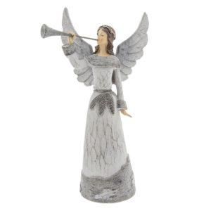 6PR2294 - Decoratie engel met trompet - 19*13*36 cm