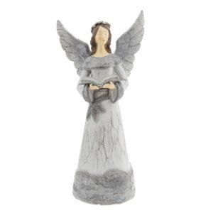 6PR2296 - Decoratie engel met boek - 15*11*29 cm