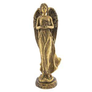 6PR2302 - Decoratie engel met vogel - 18*15*41 cm