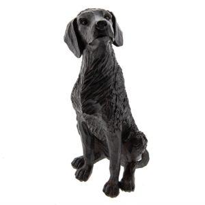 6PR2325 - Decoratie Hond zittend - 15*13*28 cm