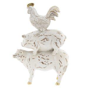 6PR2360 - Decoratie figuur dieren - 21*7*31 cm