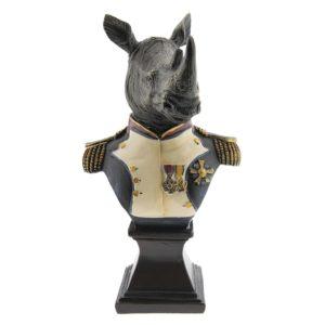 6PR2366 - Decoratie neushoorn - 15*11*26 cm