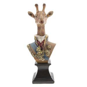 6PR2368 - Decoratie giraf - 11*10*28 cm