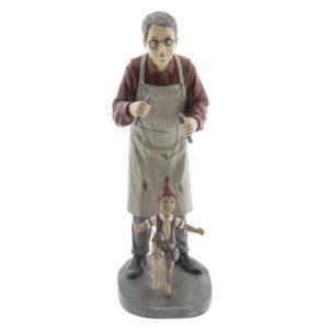 6PR2417 - Man met marionet - 16*14*36 cm